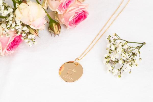 Pelina Bijoux Halskette gold Anhänger Babyfüsse