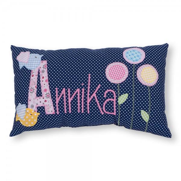 crepes suzette Kissen mit Name Annika Vögel