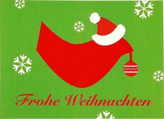 Postkarte Weihnachtsvogel