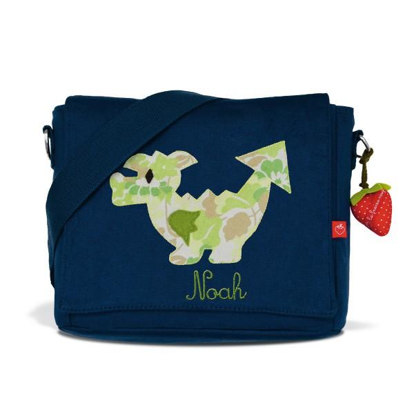 Kindergartentasche Drache mit Namen