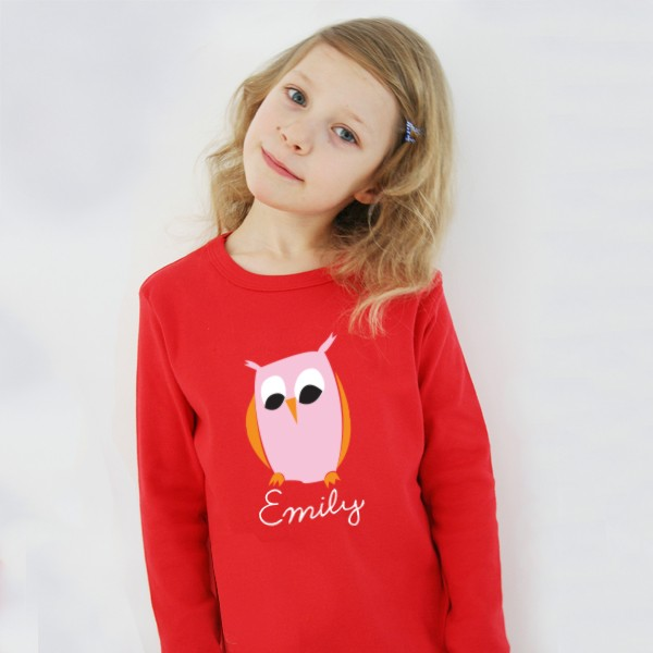 T-Shirt Eule mit Namen