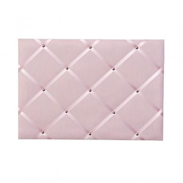 Memoboard Streifen rosa
