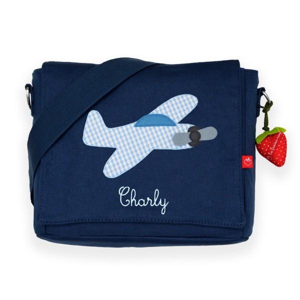 Kindergartentasche Flugzeug mit Namen