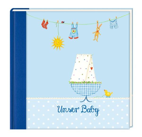Eintragalbum - Unser Baby hellblau
