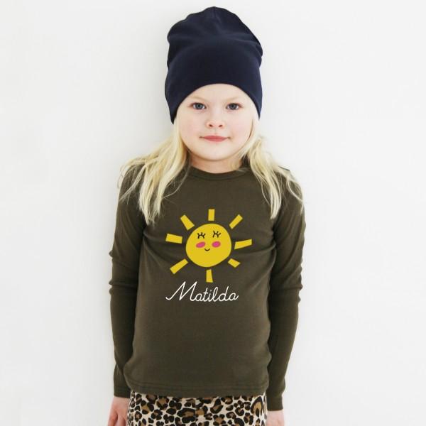 T-Shirt Sonne mit Namen