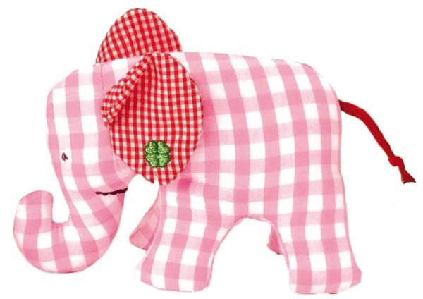 Käthe Kruse - Greifling Elefant Karo rosa