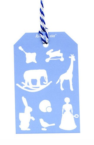 Krima & Isa - Geschenkanhänger Spielwaren blau