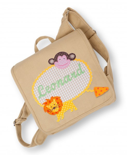 Kindergartentasche sand Leonard Tiere