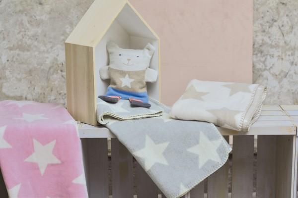 David Fussenegger - Kinderdecke Sterne rosa + beige