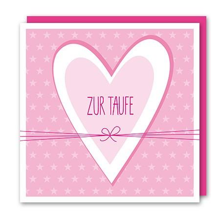 Amazing - Klappkarte Zur Taufe rosa