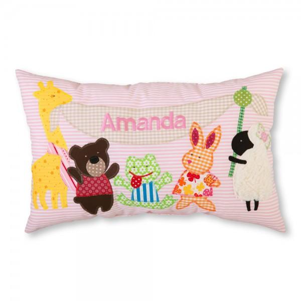 crepes suzette Kissen mit Name Amanda rosa Tiere