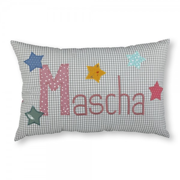 crepes suzette Kissen mit Name Mascha Sterne