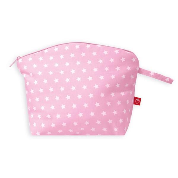 La Fraise Rouge - Kulturtasche Sterne rosa/weiss