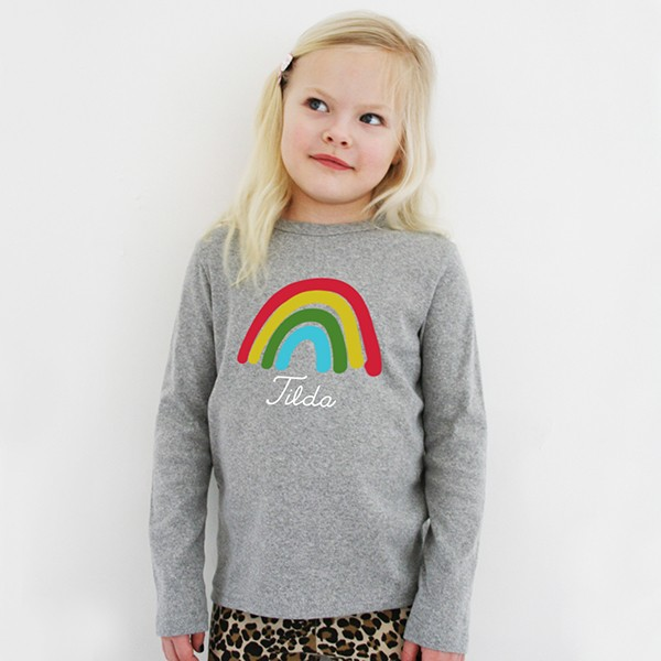 T-Shirt Regenbogen mit Namen