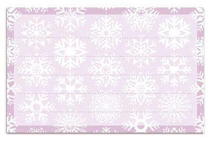 Minipunkt Adressaufkleber Schneeflocken flieder