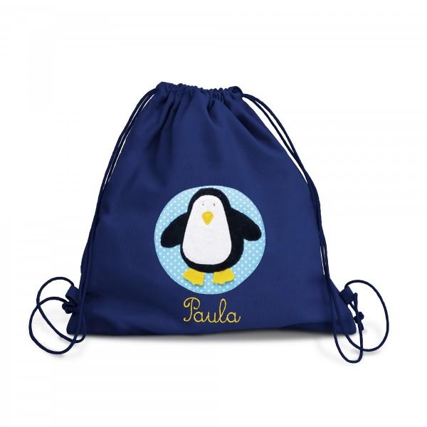 Fraise Turnbeutel Pinguin mit Namen
