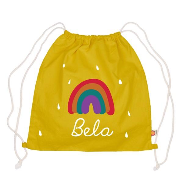 Holubolu Turnbeutel Regenbogen mit Namen