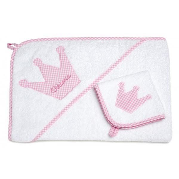 Kapuzenhandtuch Set XL rosa