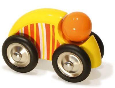 Vilac- großes Holzauto mit Streifen gelb