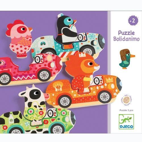 Djeco - Puzzle Autos Bolidanimo