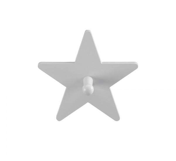 Garderobenhaken Stern grau