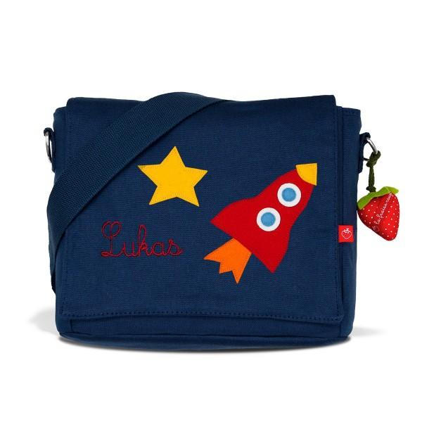 Kindergartentasche Rakete mit Namen