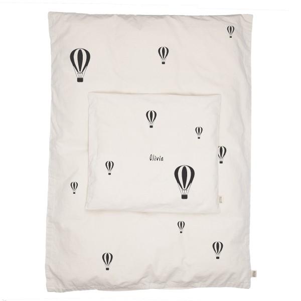 Babybettwäsche Heissluftballon mit Namen