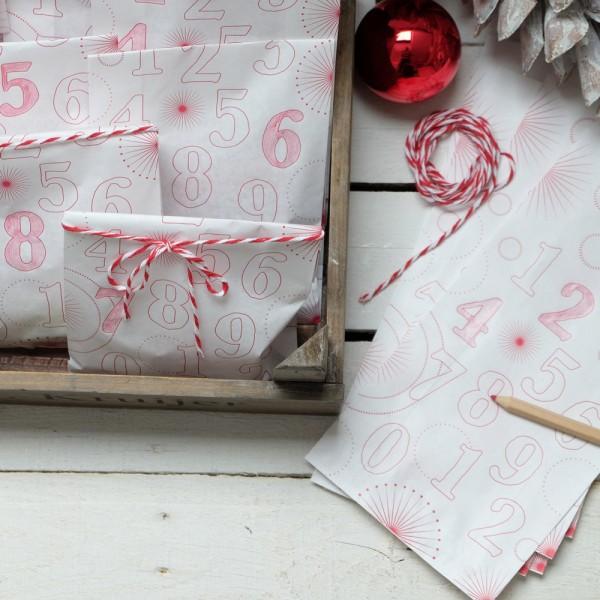 DIY Adventskalender Tütenset rot