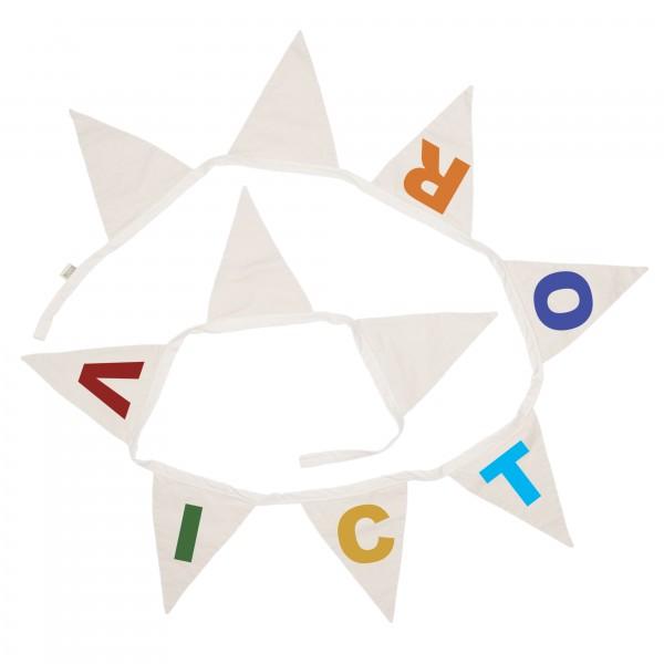 Wimpelgirlande Buchstaben bunt