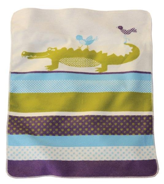 David Fussenegger - Babydecke Krokodil lila