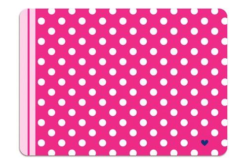 Minipunkt Postkarte pink mit weißen Punkten
