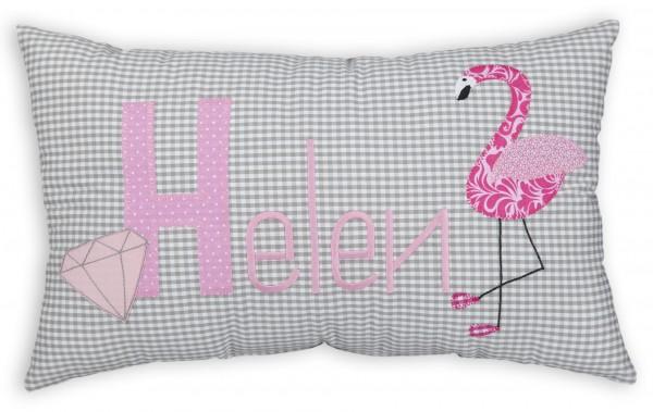 crepes suzette Kissen mit Namen Helen Flamingo