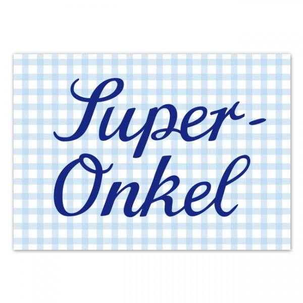 Krima & Isa - Postkarte Super Onkel