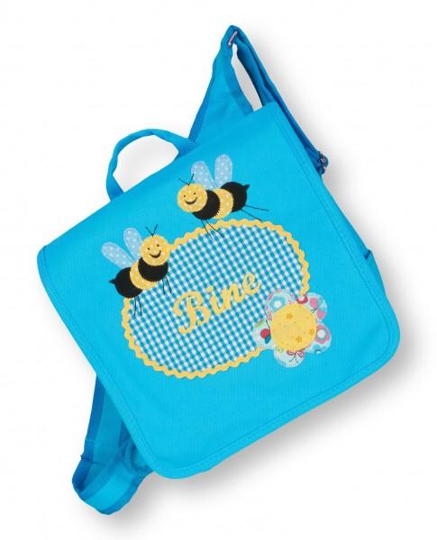 Kindergartentasche türkis Bine Bienen