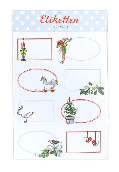 Krima & Isa -Etiketten Weihnachten