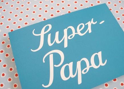 Krima & Isa - Postkarte Super Papa