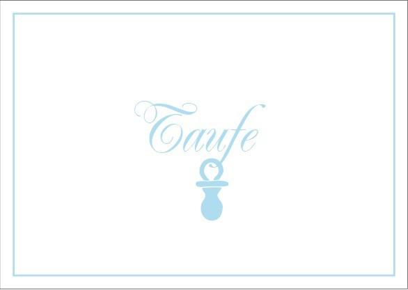 Klappkarte Taufe hellblau