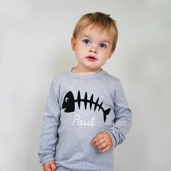 T-Shirt Fischgräte mit Namen