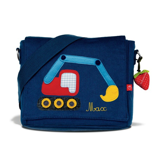 Kindergartentasche Bagger mit Namen