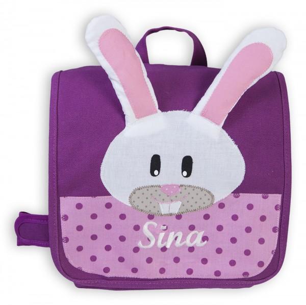 Kindergartentasche lila Hase Sina