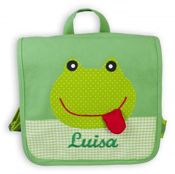 Kindergartentasche grün Frosch Luisa