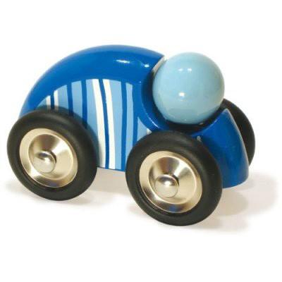 Vilac- großes Holzauto mit Streifen blau