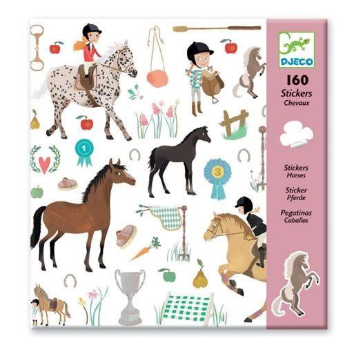 Djeco - Aufkleber Pferde