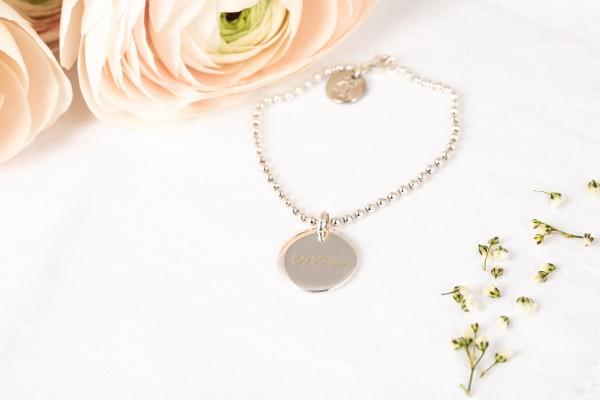 Pelina Bijoux Armband Kugelkette silber