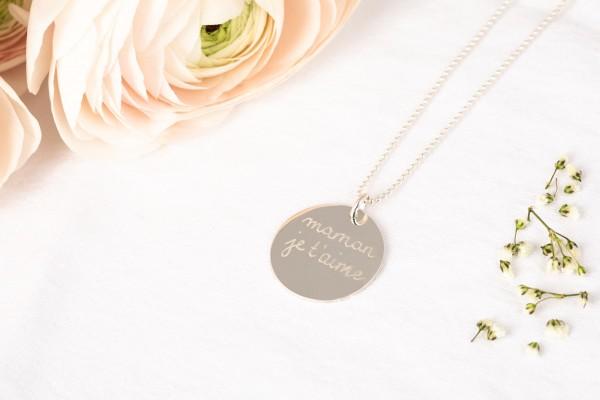 Pelina Bijoux Halskette silber 1 Medaillon