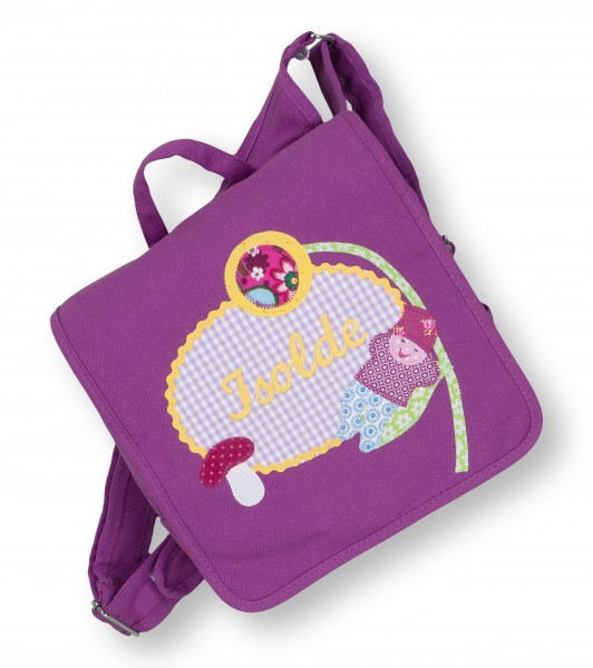 Kindergartentasche lila Isolde Wichtel