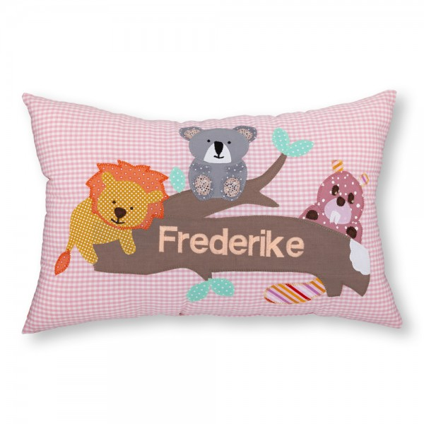 crepes suzette Kissen mit Name Frederike Löwe