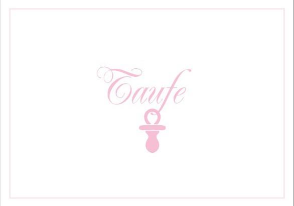 Klappkarte Taufe rosa